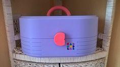 MiNt Vintage Caboodles Make Up Case 2 Tier Solid Pastel Purple Pink 80s 90s 2614 #Caboodles