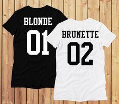 tee shirt copines amies brune blonde