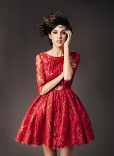 alexa.   red lace.