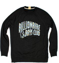BILLIONAIRE BOYS CLUB Lure Crewneck in Black B0012K252, Free Shipping at CelebrityModa.com