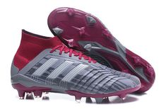 Mens Shop Adidas x Paul Pogba Predator 18+ FG 2018 Word Cup Grey Burgundy  Kobe c6889c748f431
