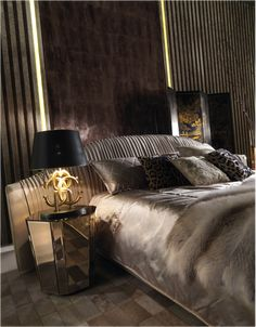 Statement bedside lighting | The Lighting Logo Table Lamp from the Roberto Cavalli Home Interior's Iconic Collection stocked by Kings of Chelsea kofc.co.uk