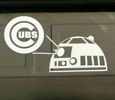 R2D2 Chicago Cubs,decal,vinyl die-cut,sticker,white sox,red,star wars,baseball | eBay Motors, Parts & Accessories, Car & Truck Parts | eBay!