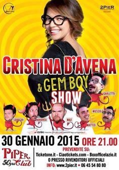 Cristina D'Avena e Gem Boy 30-1-2015 Roma