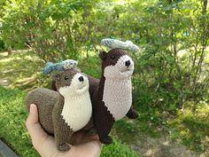 Cat Toys, Doll Toys, Dolls, Crochet Toys, Knit Crochet, Knitting Patterns, Crochet Patterns, River Otter, Little Fish