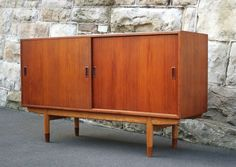 Original Danish Borge Mogensen for Soborg Teak & Oak Sideboard Buffet 1960s