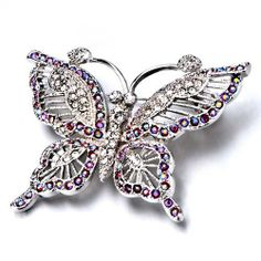Pugster Empress Monarch Silver Flying Butterfly Winged Rose Pink Swarovski Crystal Diamond Accent Rhinestone Brooches And Pins Pugster. $23.99. Exquisitely detailed designer style with Swarovski cystal element.. Money-back Satisfaction Guarantee.. Can be pinned on your gown or fastened in your hair with bobby pins.. Occasion: casual wear,anniversary, bridal, cocktail party, wedding. One free elegant cushioned Gift box available with every order from Pugster.