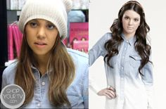 Shop Your Tv: Keeping Up With The Kardashians: Season 8 Episode 1 Kourtney's Ombre Button Front Shirt