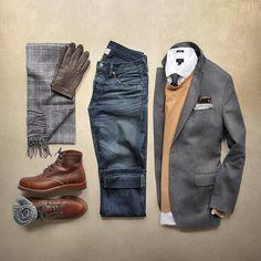 "Phil Cohen on Instagram  ""Post-blizzard workflow. Sweater   toddsnyderny  cashmere Scarf Pocket Square   thetiebar Blazer, Tie, Gloves    bananarepublic ... 5cbb8b36b5e"