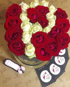 Букет с сердцем из роз   #flowers #bouquets #roses #Volgograd