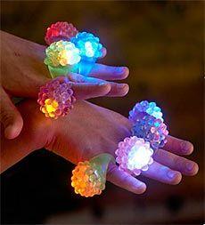 Underwater Flashing Jelly Finger Rings