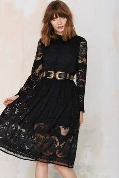 Nasty Gal Black Victorian Long Sleeved Lace Dress Brand hew with tags! In perfect condition, selling because it is to long for my body. Bundle and Save💕 Nasty Gal Dresses Long Sleeve Lace Midi Dress, Dress Up, Boho Fashion, Fashion Outfits, Fashion 2015, Ladies Fashion, Winter Fashion, Black Cocktail Dress, Cocktail Dresses
