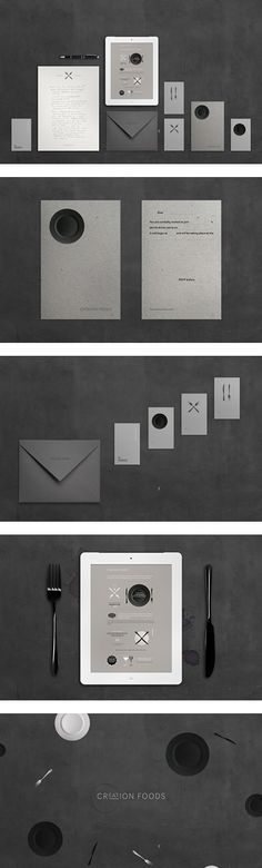 Creation Foods identity system by Bleed