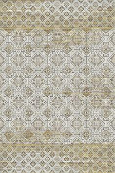 Dynamic Rugs Royal Treasure Amber/Mocha Tile Rectangle Area Rug