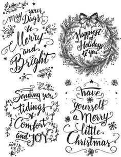 Tim Holtz Doodle Greetings 1 Cling Stamp