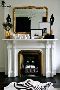 Black, white & brass