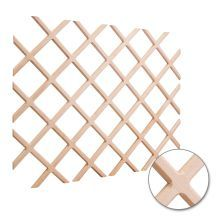 24 Inch x 30 Inch Wine Lattice Storage Rack with Beveled Joints