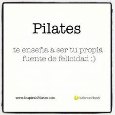 """@inspirahpilates's photo: """"#Pilates te enseña a ser tu propia fuente de felicidad :) www.inspirahpilates.com"""""""