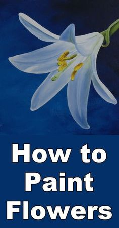 Learn how to paint flowers in acrylic with this free online art class