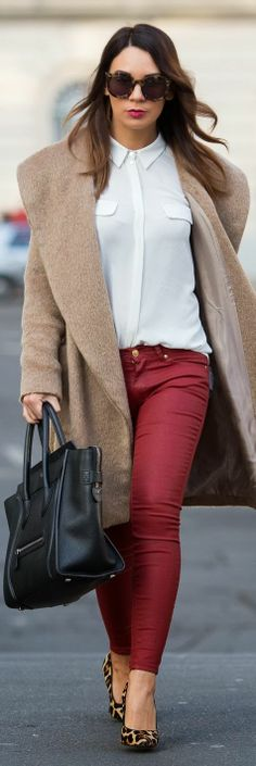 Camel & Burgundy by Cashmere In Style