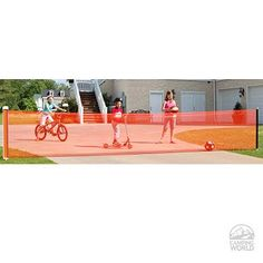 Keep balls from rolling all the way down the hill. Retractable driveway gate from camping world.