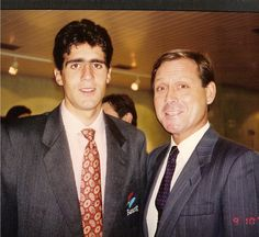 Con Miguel Indurain en la Expo Sevilla 1992. Acababa de ganar el Tour de Francia.