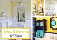 Yellow Bathrooms Ideas U0026 Inspiration #bathroom #paint