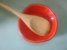 Red Textured Bottom Spoon Rest by ShoeHouseStudio on Etsy, $8.00