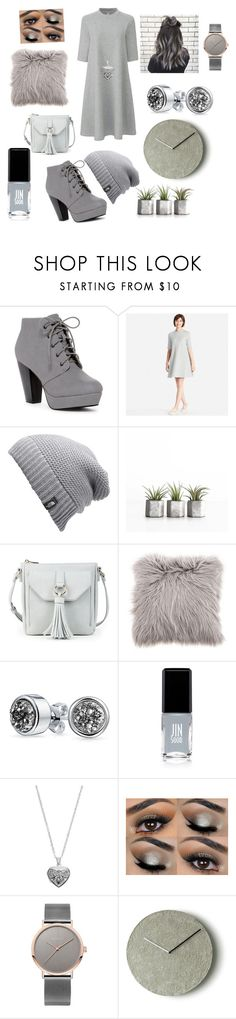 """""""50 shades darker"""" by oliviavalente ❤ liked on Polyvore featuring Uniqlo, The North Face, Sole Society, Bling Jewelry, JINsoon and Silver Expressions by LArocks"""