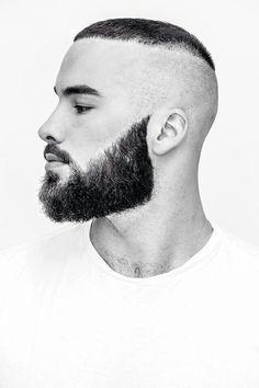 men hair & Beard styles www. Beard Styles For Men, Hair And Beard Styles, Short Hair Styles, Mens Facial, Facial Hair, Street Style Vintage, Beard Game, Sexy Beard, Awesome Beards