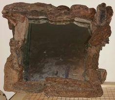 Driftwood bark mirror