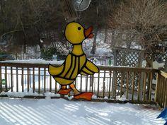 Newborn Easter Duckling by HummingbirdStGlass on Etsy