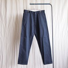 Chino Cloth Pants - Wide Tapered #navy