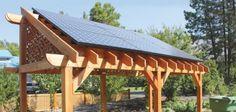 Pergola-Mounted Solar Electric Array