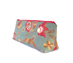 Moda Floral Make-up Zipper Pouch // Stationery Pencil Case