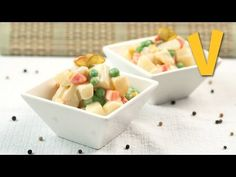 Olivier salad (Russian salad) | The Vegan Corner - YouTube