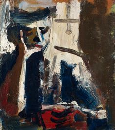 DAVID PARK Woman Reading 1958 Oil on canvas 44 × 38 1/2 in / 112 × 97 cm