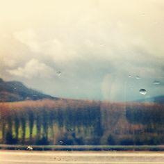#vitoria #landscape #road #clouds # blur #wet Alava-Araba