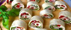 Kolorowe mini tortille - pyszna przekąska! - Blog z apetytem Party Buffet, Fresh Rolls, Sushi, Food And Drink, Snacks, Ethnic Recipes, Blog, School, Kitchen