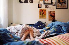 sleeping in an armchair at Janna's house in Kiel film, mid July 2012 film diary post slow mornings