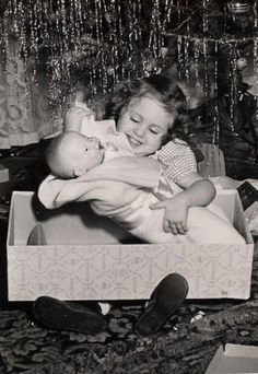 I remember my Christmas babies!  All I ever wanted for Christmas each year was a new doll or doll buggy or doll bed.
