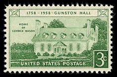 3c Gunston Hall single