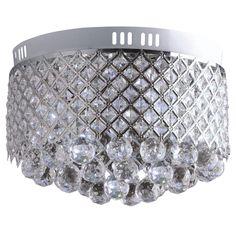 Okrągły plafon wykonany z kryształu i metalu to doskonałe rozwiązanie dla Twojego domu.  #mlamp #oświetlenie #lampa #lampy #glamour #wystrój #wnętrz #salon #plafon #kryształki