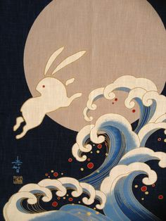 picture of japanese rabbits | Don't forget to visit our Japanese fabrics