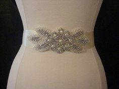Bridal Sash  Wedding Dress Sash Belt  Pearl and Rhinestone Ivory Sash  Ivory Rhinestone Bridal Sash >>> Learn more by visiting the image link.
