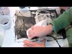 ▶ Jane Davies- Ink on Yupo - YouTube....Once again, Jane is wicked inspiring, demonstrating different techniques with india ink, ammonia/water mix, a SQUEEGEE, stamps, pens & yupo paper. One of her best tutes !! ...bless her for her generosity in sharing her expertise. Jane rocks.