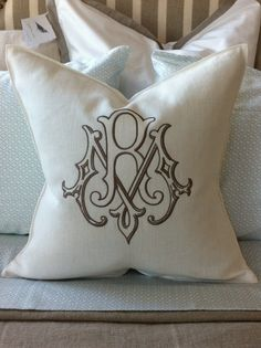 Libeco Linen Pillow - Oyster via Number Four Eleven in Savannah