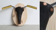 """XLxs: El Toro de Picasso by Standbikeme, via Behance In 1943 Pablo Picasso already sensed that a saddle and a bike handlebar he could represent the head of a bull. This is the resource that we have used to expose our Cintes, honoring the artist and simulating a trophy wall, in which each """"bull"""" will be a different combination of our product, so that we could contextualize the product halfway between Picasso's reality and the reality of the rest of us."""