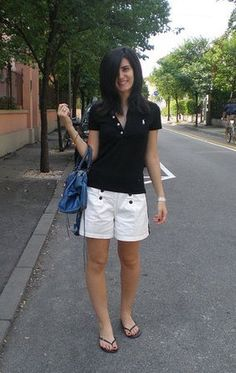 :) Balenciaga Handbags, White Shorts, Bermuda Shorts, Women, Fashion, Moda, Fashion Styles, Fashion Illustrations, Shorts
