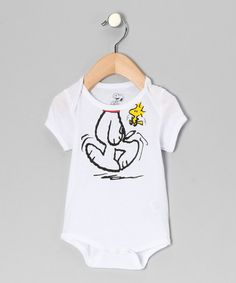 Take a look at this White Snoopy Bodysuit - Infant by Peanuts by Charles Shultz on #zulily today!